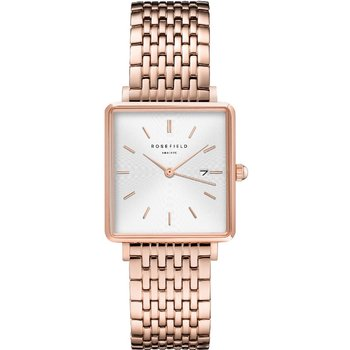 ROSEFIELD The Boxy Rose Gold Stainless Steel Bracelet