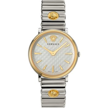 VERSACE V-Circle Silver Stainless Steel Bracelet