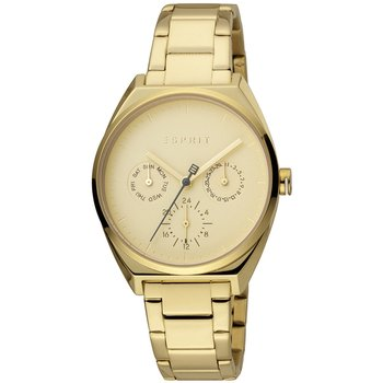 ESPRIT Slice Multi Dual Time Gold Stainless Steel Bracelet