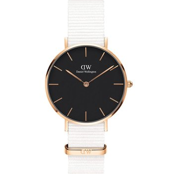 DANIEL WELLINGTON Petite Dover White Fabric Strap 32mm