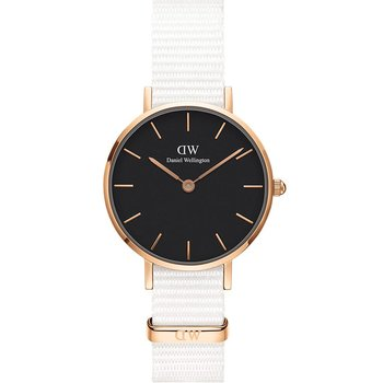 DANIEL WELLINGTON Petite Dover White Fabric Strap 28mm