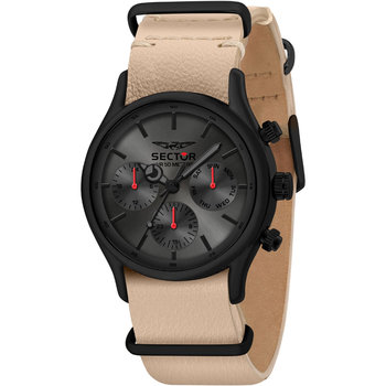 SECTOR 660 Beige Leather Strap