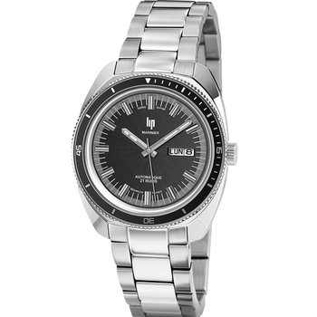 LIP Marinier Automatic Silver Stainless Steel Bracelet