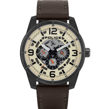 POLICE Lawrence Brown Leather