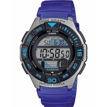 CASIO Collection Chronograph Blue Rubber Strap