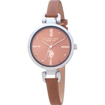 U.S. POLO Dorothy Brown Leather Strap