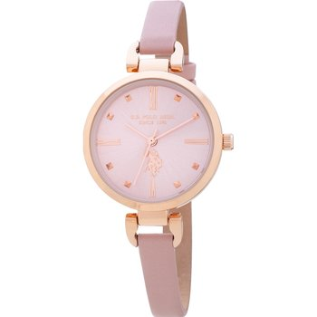 U.S. POLO Dorothy Pink Leather Strap