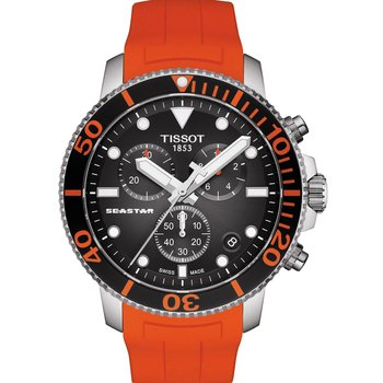 TISSOT T-Sport Seastar 1000 Chronograph Orange Rubber Strap