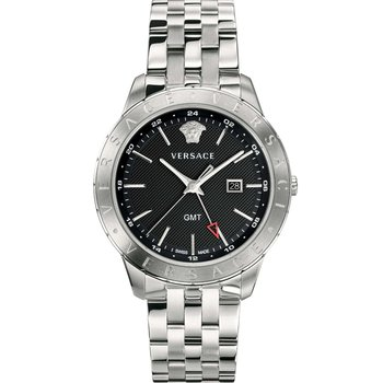 VERSACE Univers GMT Silver