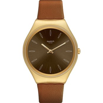 SWATCH Skinsand Brown Leather
