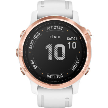 GARMIN Fenix 6S Pro Rose Gold-tone with White Band