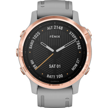 GARMIN Fenix 6S Sapphire Rose Gold-tone with Powder Gray Band
