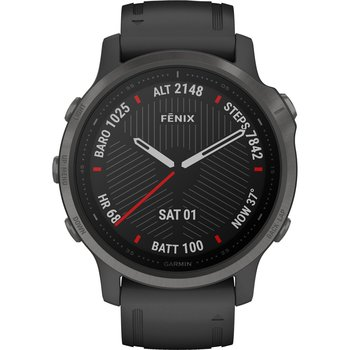 GARMIN Fenix 6S Sapphire Carbon Gray DLC with Black Band