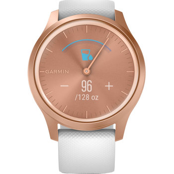 GARMIN Vivomove Style White Silicone with Rose Gold Hardware