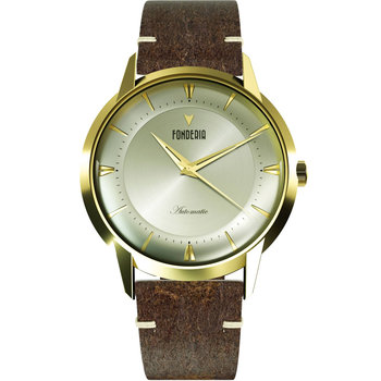FONDERIA The Professor II Brown Leather Strap