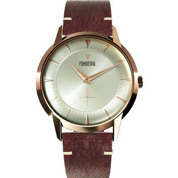 FONDERIA The Professor II Small Second Brown Leather Strap