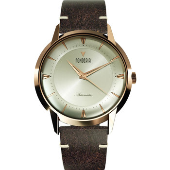 FONDERIA The Professor II Automatic Brown Leather Strap