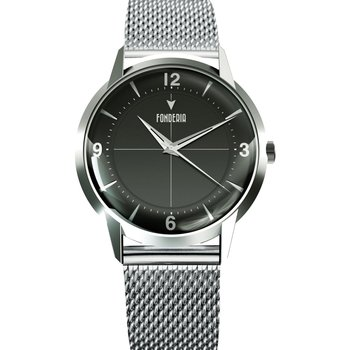 FONDERIA The Professor II Silver Stainless Steel Bracelet