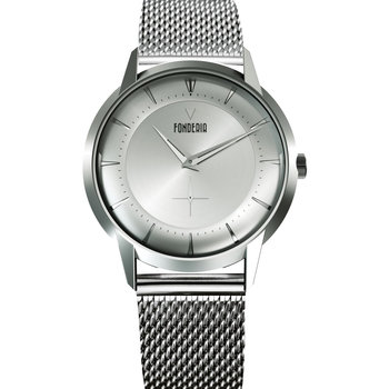 FONDERIA The Professor II Small Second Silver Stainless Steel Bracelet