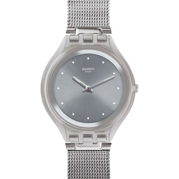 SWATCH Skinsparkly Silver Stainless Steel Bracelet