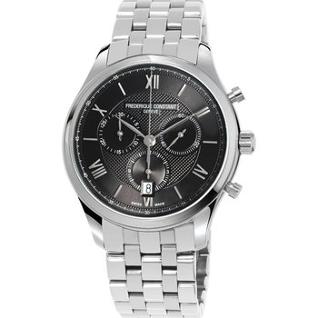 Frederique Constant Classic Chronograph Silver Stainless Steel Bracelet
