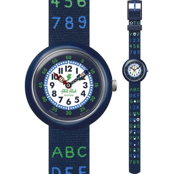 FLIK FLAK Blue AB34 Multicolor Fabric Strap