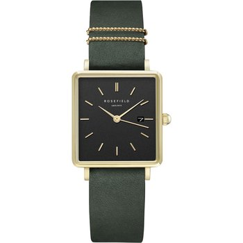ROSEFIELD The Boxy Green Leather Strap