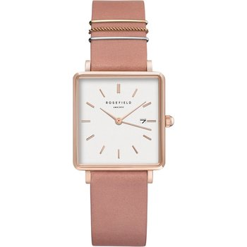 ROSEFIELD The Boxy Pink Leather Strap
