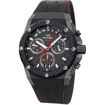 TW STEEL ACE Genesis Chronograph Black Combined Materials Strap