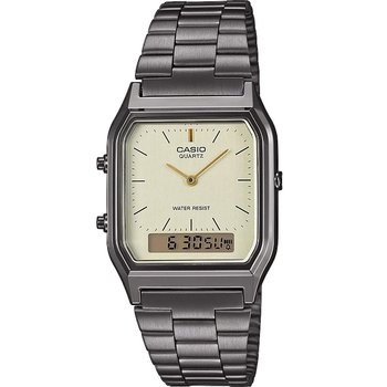CASIO Collection Dual Time Chronograph Grey Stainless Steel Bracelet