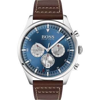 BOSS Pioneer Chronograph Brown Leather Strap
