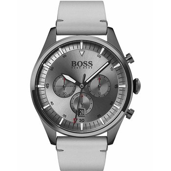 BOSS Pioneer Chronograph White Leather Strap