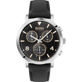 BOSS Contemporary Spirit Chronograph Black Leather Strap