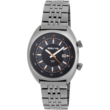 3GUYS Gents Grey Stainless Steel Bracelet