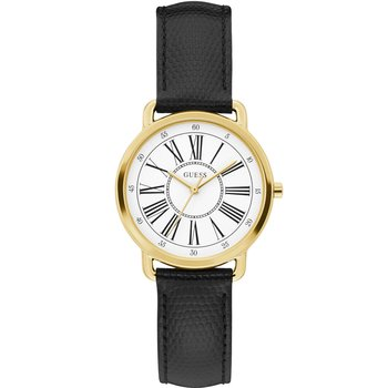 GUESS Ladies Black Leather