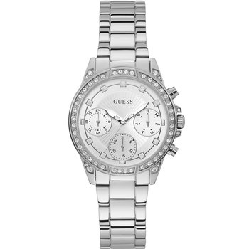 GUESS Ladies Crystals Silver