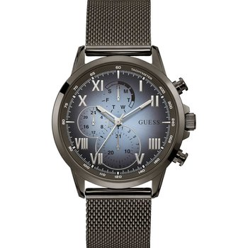 GUESS Mens Black Stainless