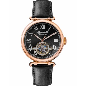 INGERSOLL Protagonist Automatic Black Leather Strap