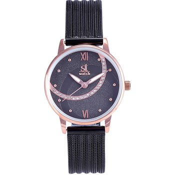 ST WATCH Mambo Crystals Black