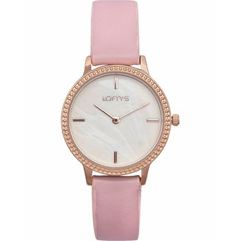 LOFTY'S Cassiopi Crystals Pink Leather Strap