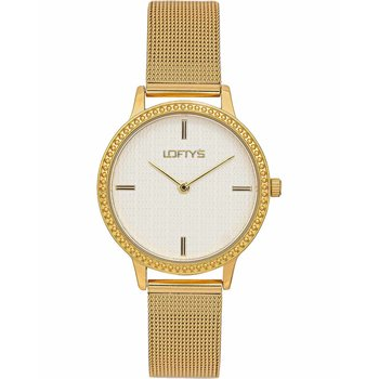 LOFTY'S Cassiopi Crystals Gold Stainless Steel Bracelet