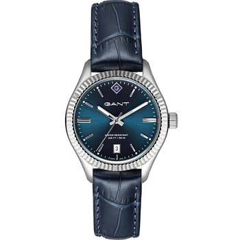 GANT Sussex Blue Leather Strap