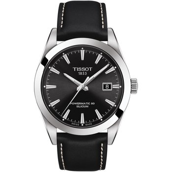 TISSOT T-Classic Gentleman Automatic Black Leather Strap