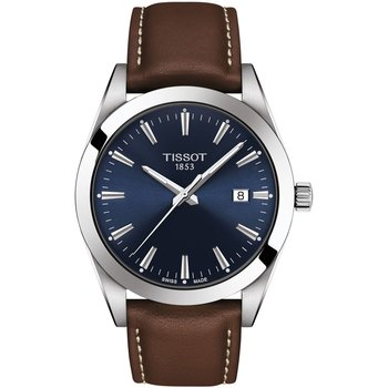 TISSOT T-Classic Gentleman Brown Leather Strap