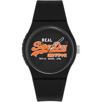 SUPERDRY Black Silicone Strap