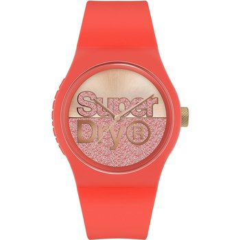 SUPERDRY Red Silicone Strap