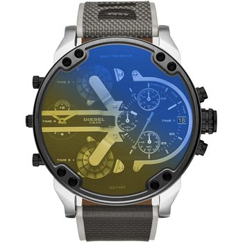 DIESEL Mr Daddy 2.0 Quad Time Chronograph Two Tone Fabric Strap