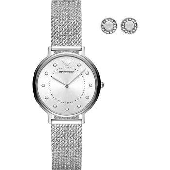 Emporio ARMANI Kappa Crystals Silver Stainless Steel Bracelet Gift Set