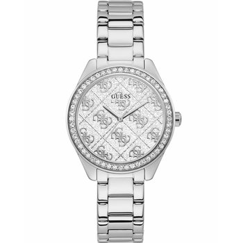 GUESS Ladies Crystals Silver Stainless Steel Bracelet