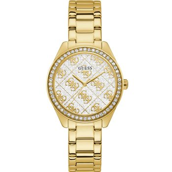 GUESS Ladies Crystals Gold Stainless Steel Bracelet